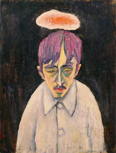 萬鐵五郎《雲のある自画像》 1912-13(明治45-大正2)年頃 岩手県立美術館蔵