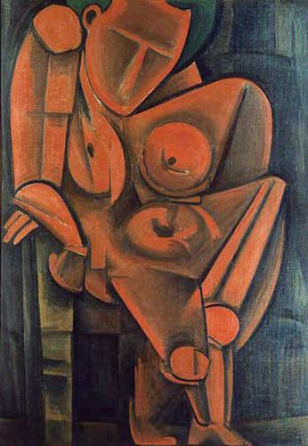 萬鐵五郎《もたれて立つ人》 1917(大正6)年 東京国立近代美術館蔵