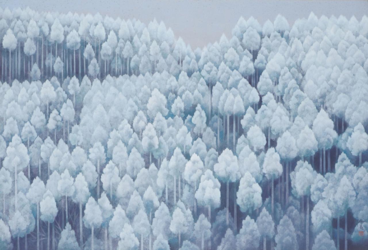 東山魁夷《北山初雪》1968(昭和43)年 公益財団法人川端康成記念会蔵