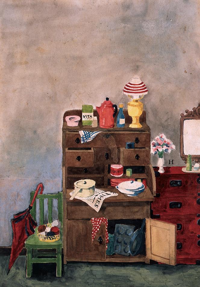 《『美しい暮しの手帖』1世紀1号表紙原画》1948年9月世田谷美術館蔵