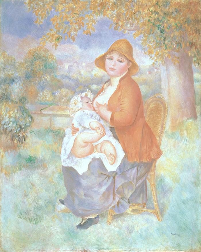 ピエール=オーギュスト・ルノワール《母子像(アリーヌと息子ピエール)》1886年