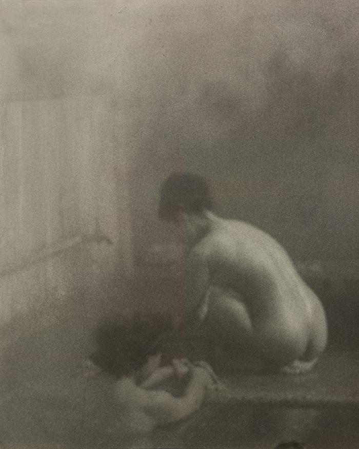 内村皓一  《山の湯》  1947年
