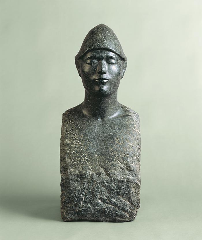 照井榮  《とんがり帽の男》  1974年