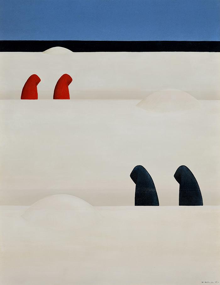 松田松雄 《風景(連れ)》 1969年