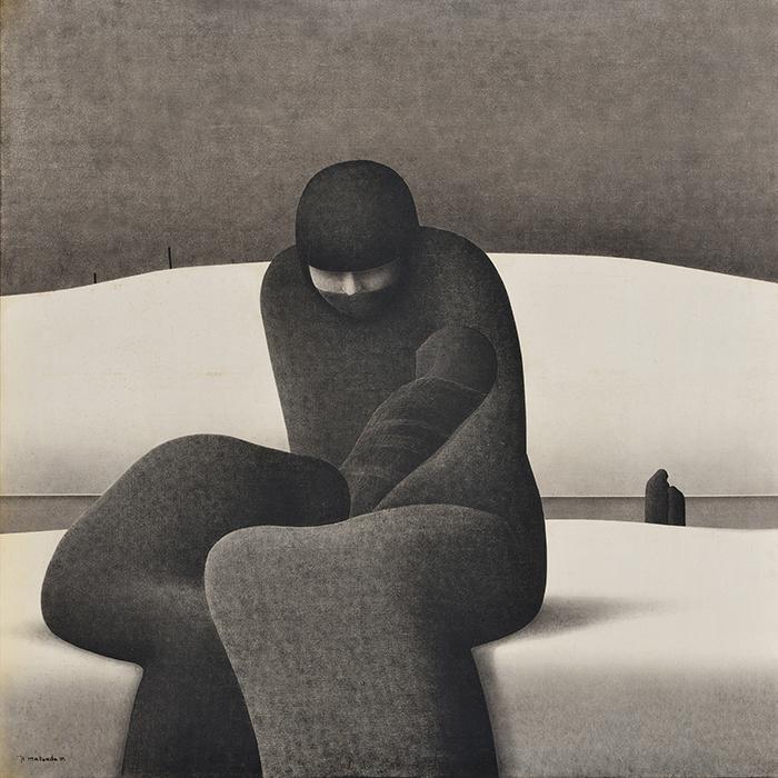 松田松雄 《風景(家族)》 1976年