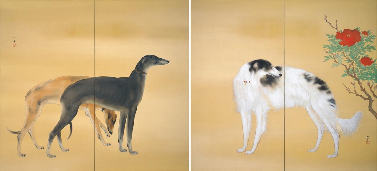 橋本関雪 《唐犬図》 1941年頃 足立美術館蔵