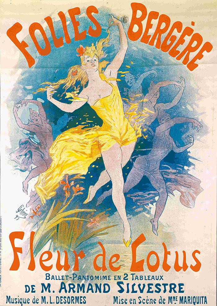 ジュール・シェレ 《「ロータスの花」フォリー・ベルジェール座》 1893年