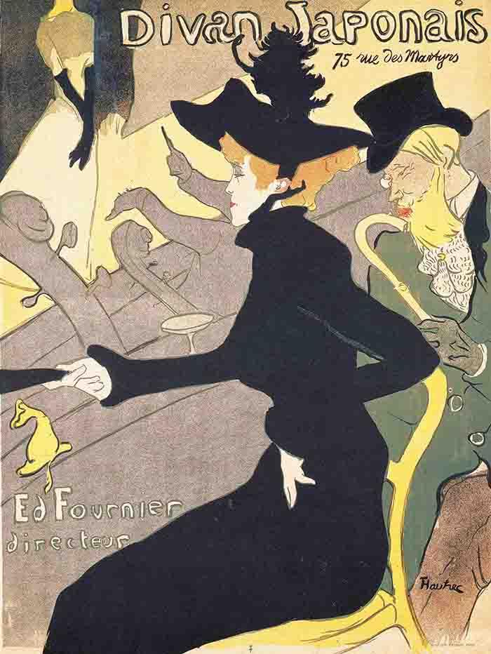 アンリ・ド・トゥールーズ=ロートレック 《ディヴァン・ジャポネ》 1892年