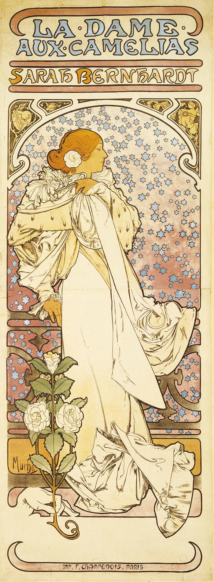 アルフォンス・ミュシャ 《椿姫》 1896年