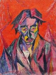 萬鐵五郎 「赤い目の自画像」