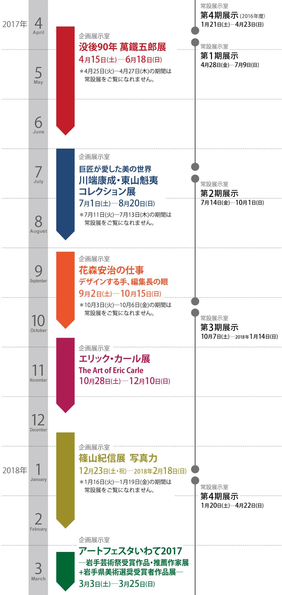 展覧会/年間スケジュール2017-2018