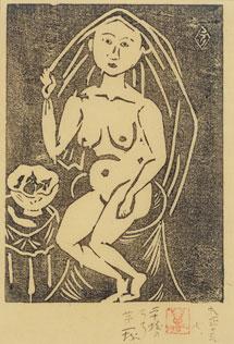 萬鐵五郎《羅布かづく人》 1924年